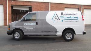 the arrowhead plumbing truck