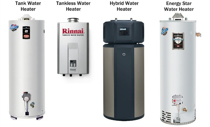 different water heater models