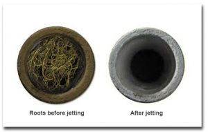 pipes before and after jetting