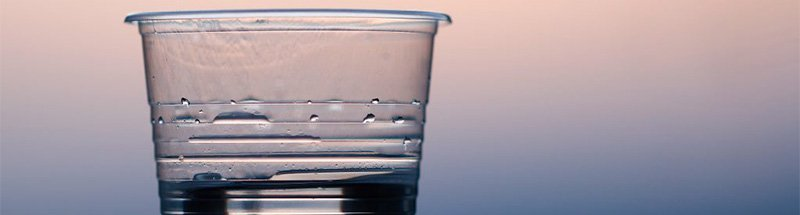 a cup of water